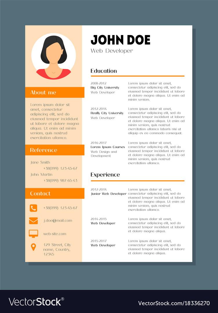 Company Application Cv Resume Template Card Poster - Web development company templates