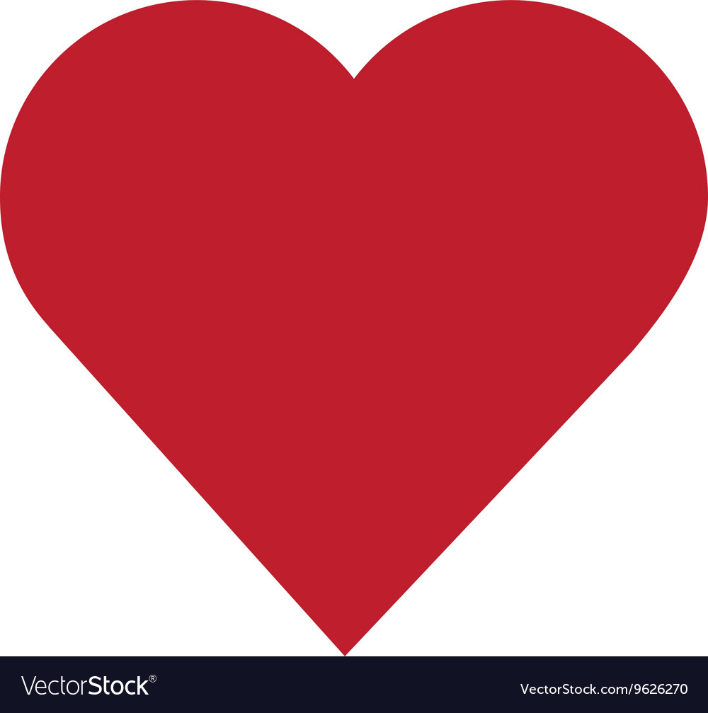 cute heart icon royalty free vector image vectorstock rh vectorstock com love heart icon vector heart icon vector image