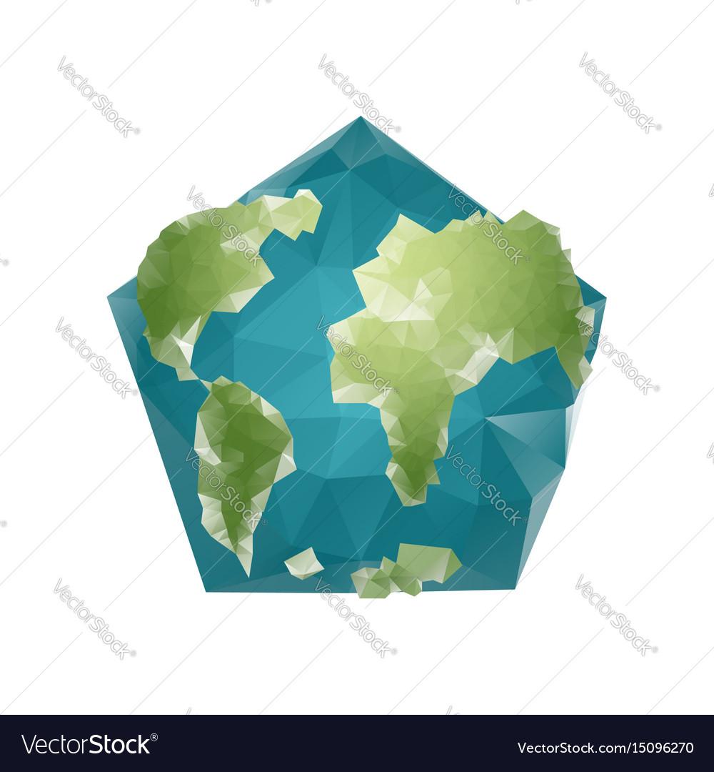 Earth polygon planet geometric figure pentagon