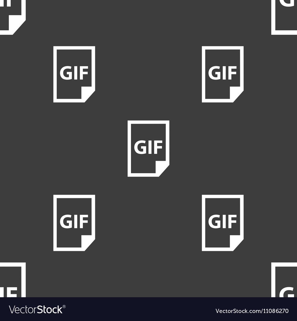 File GIF icon sign Seamless pattern on a gray