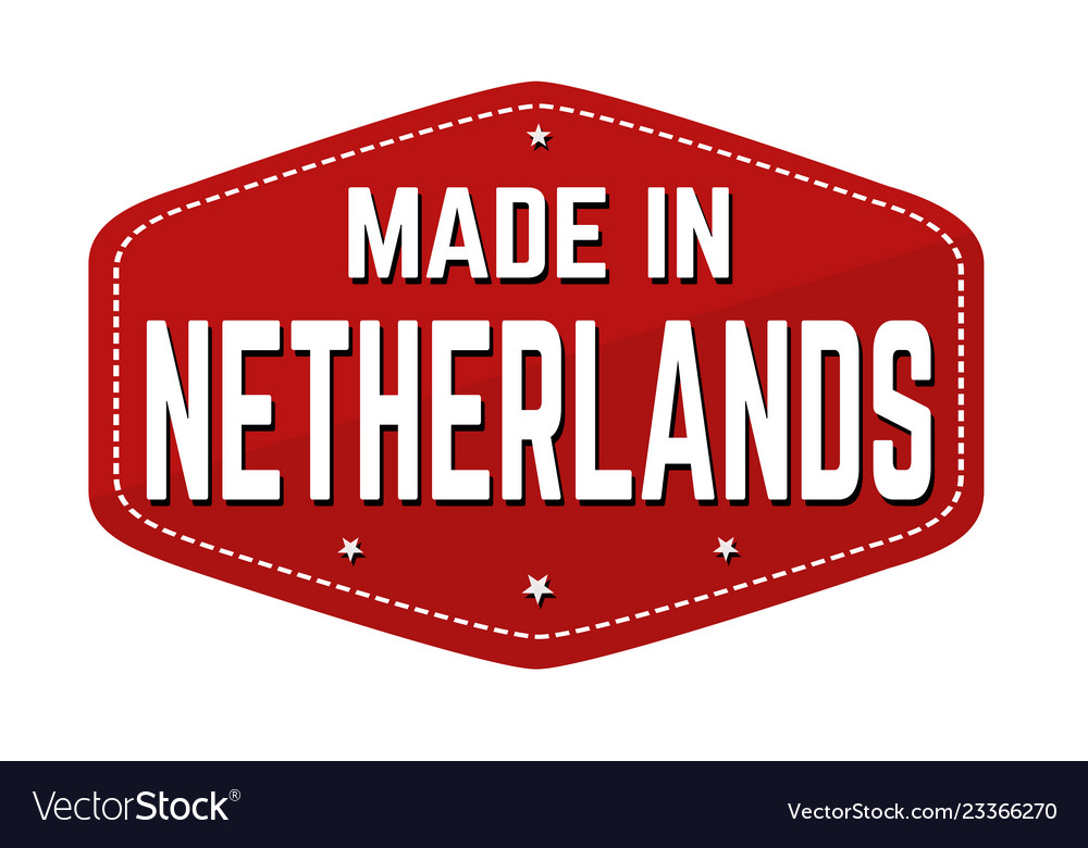 Made in netherlands label or sticker