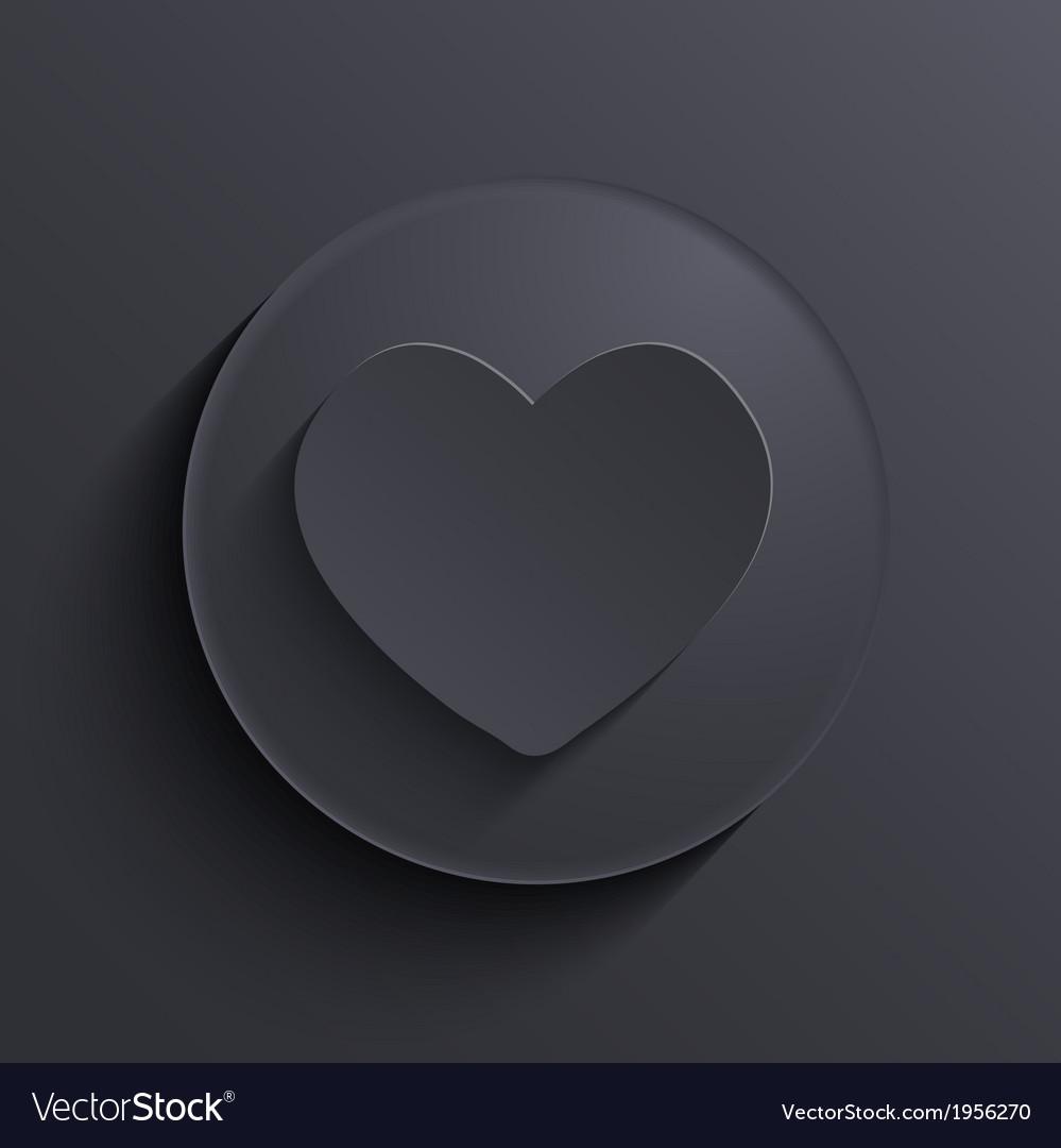 Modern dark circle icon Eps10
