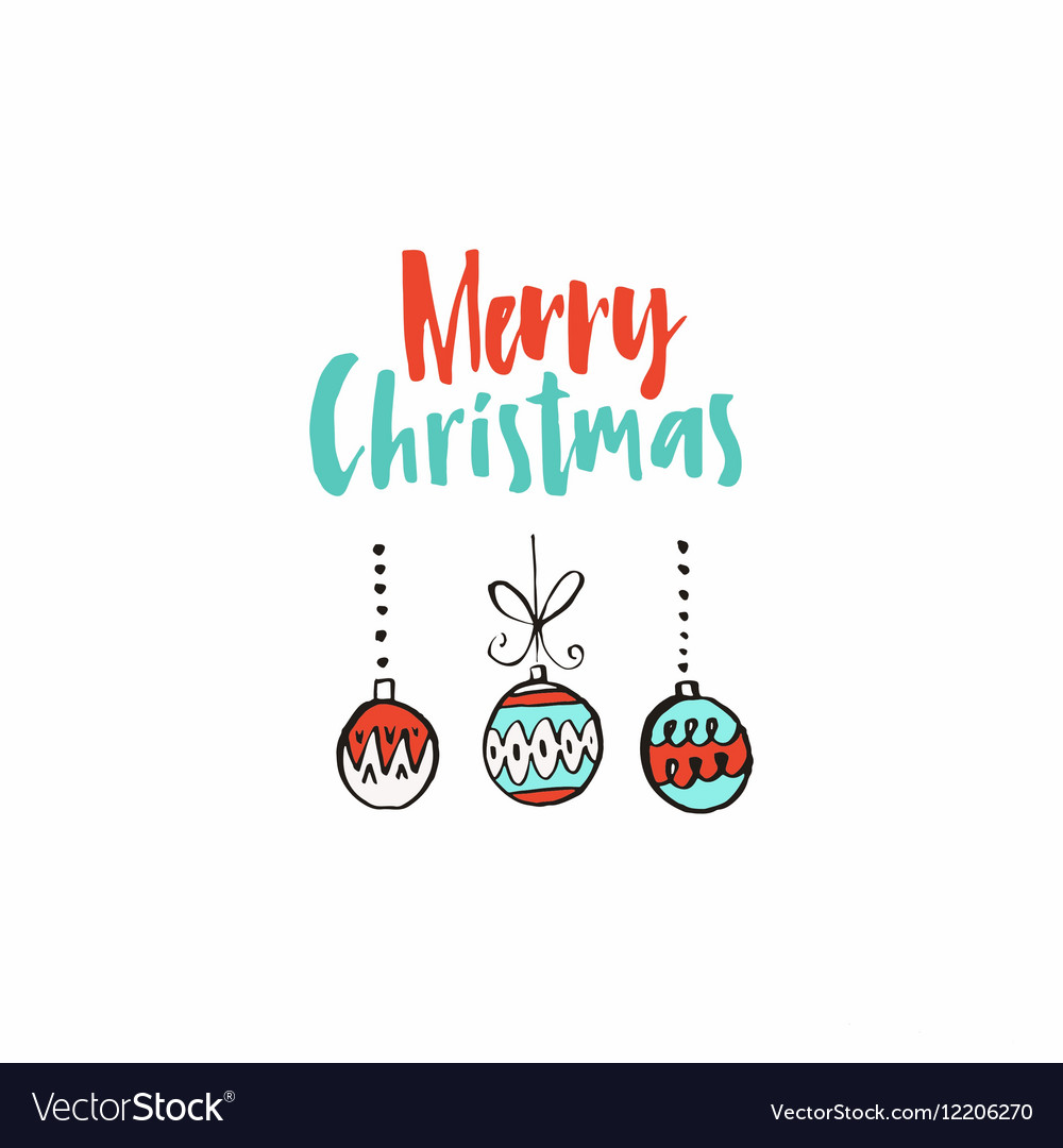 Simple Christmas Card Royalty Free Vector Image