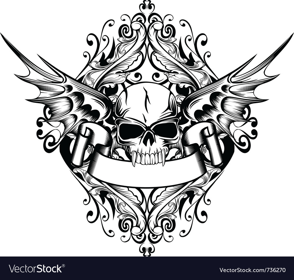 Skull with wings 4