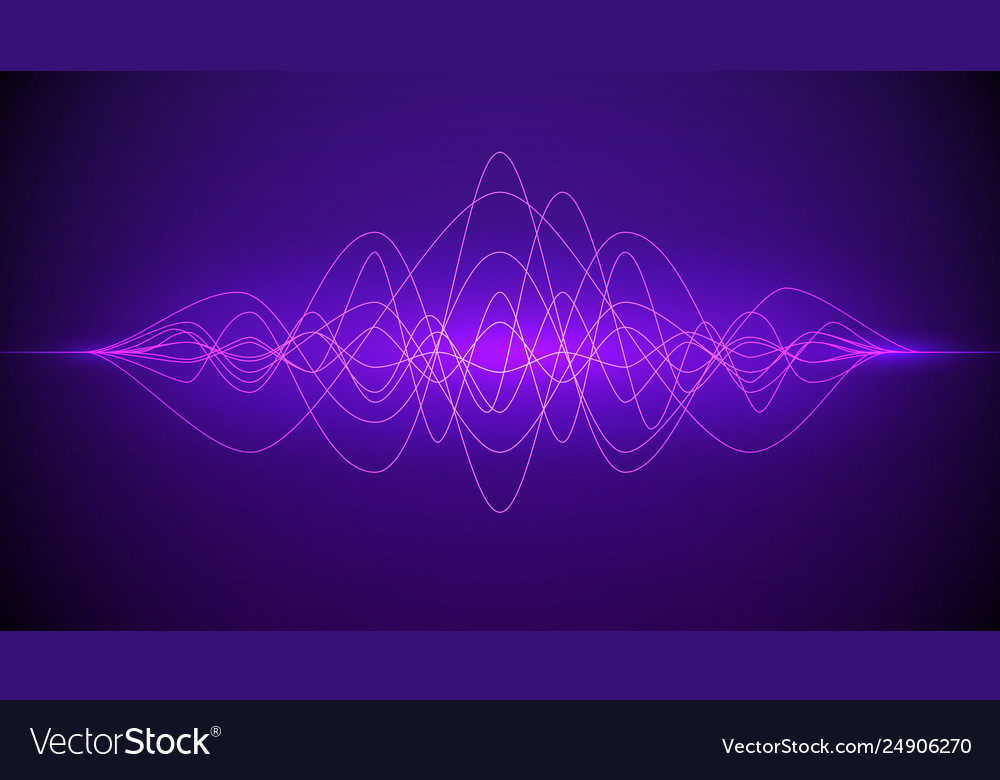 Sound wave abstract purple color light dynamic