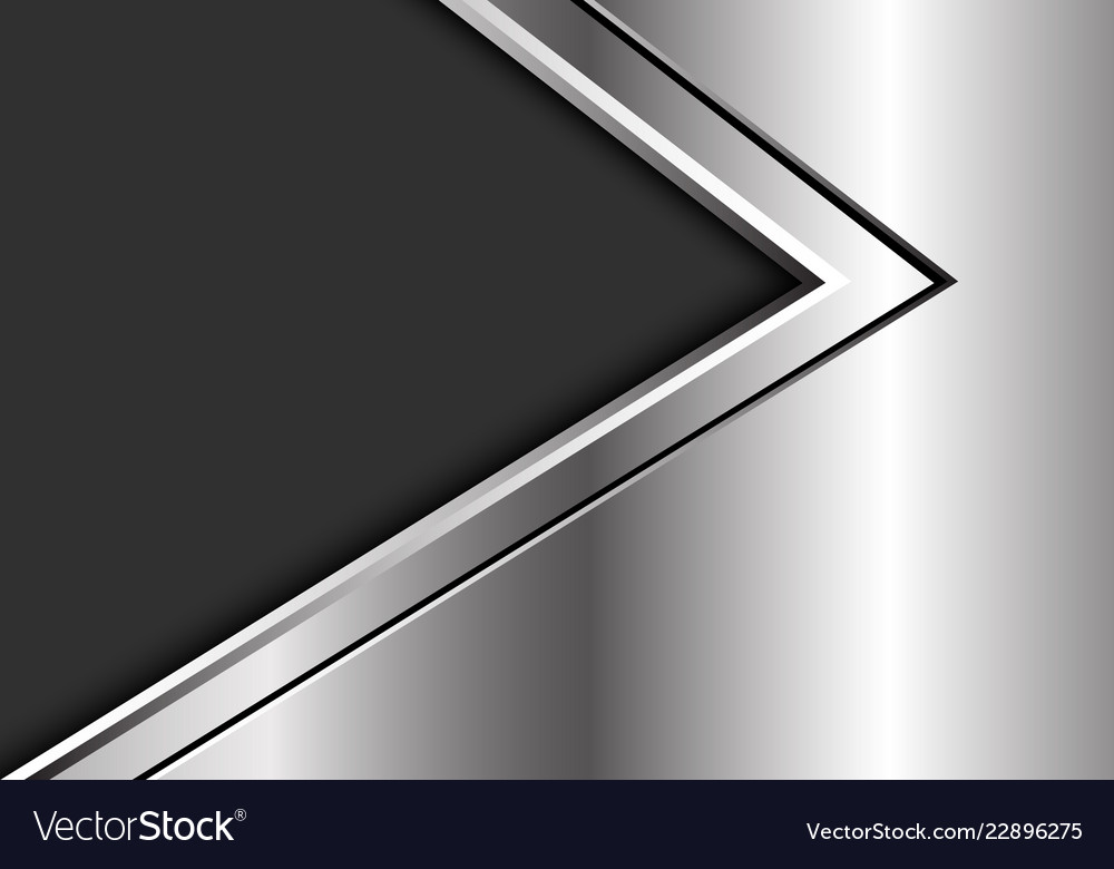 Abstract silver black arrow direction on dark