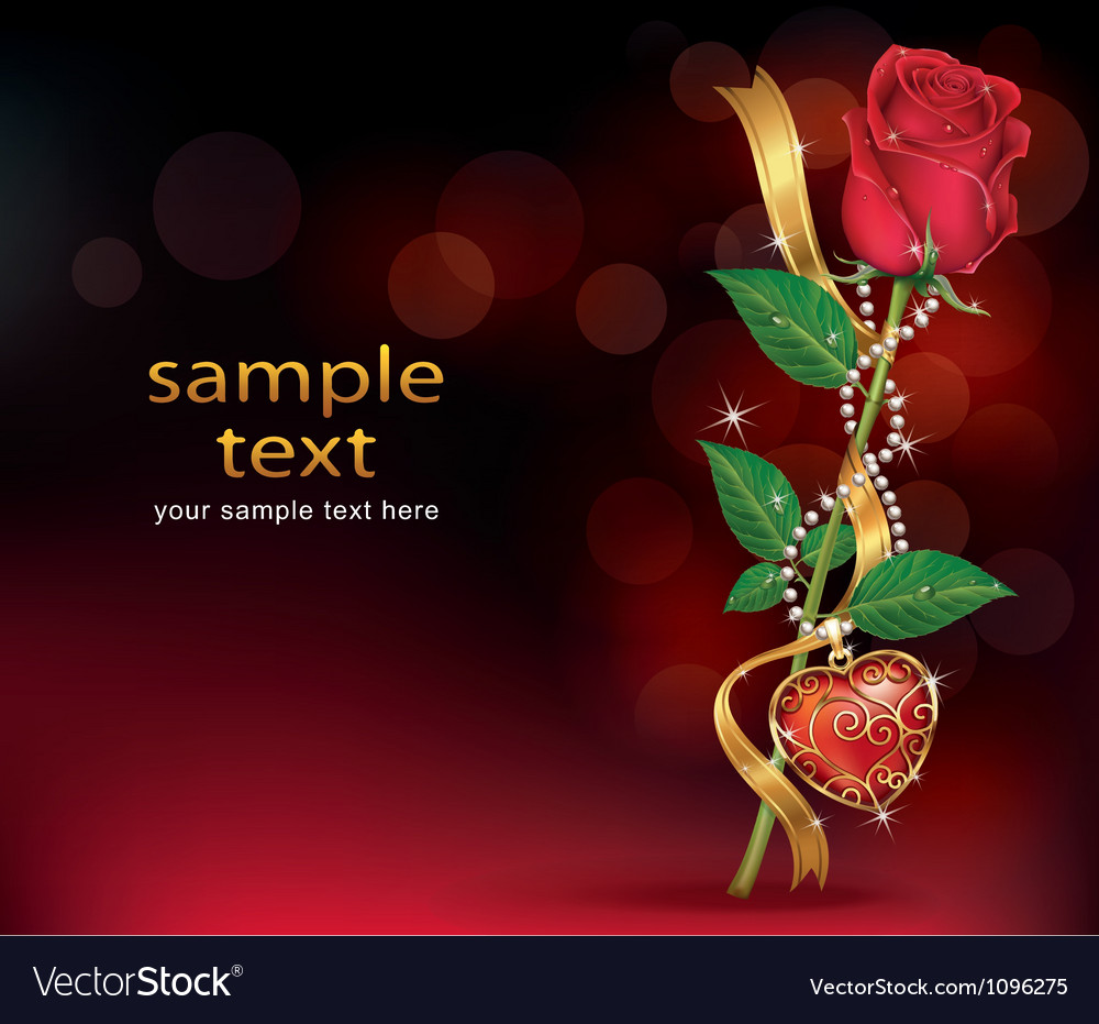 Beautiful Roses With Ribbon and Necklet vector image