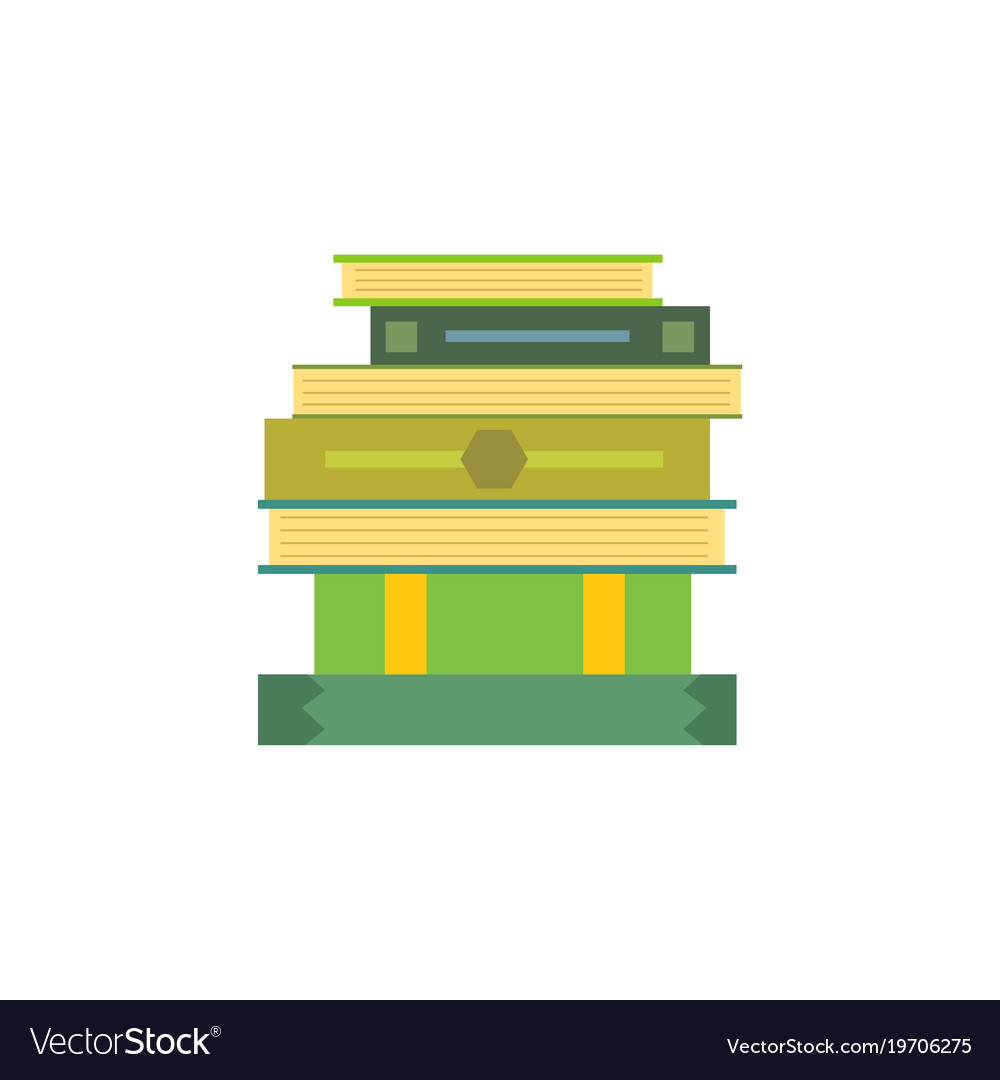 Books set in cartoon design style isolated on