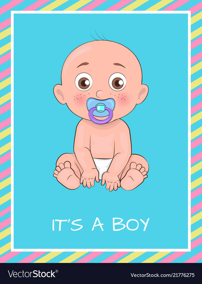 Its boy poster dedicated to baby shower day