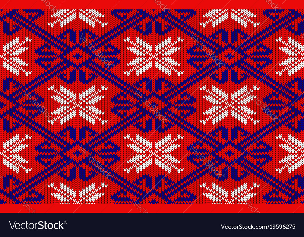Knitted pattern in national colors of norway