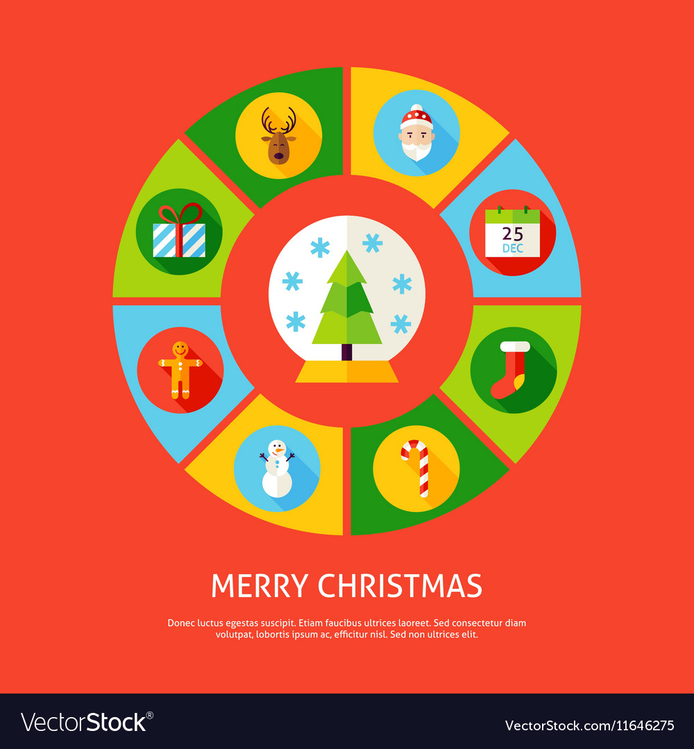 Merry Christmas Infographic Concept