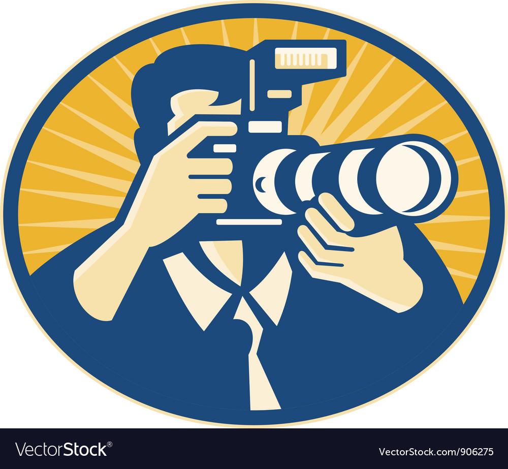 Photographer DSLR vector image