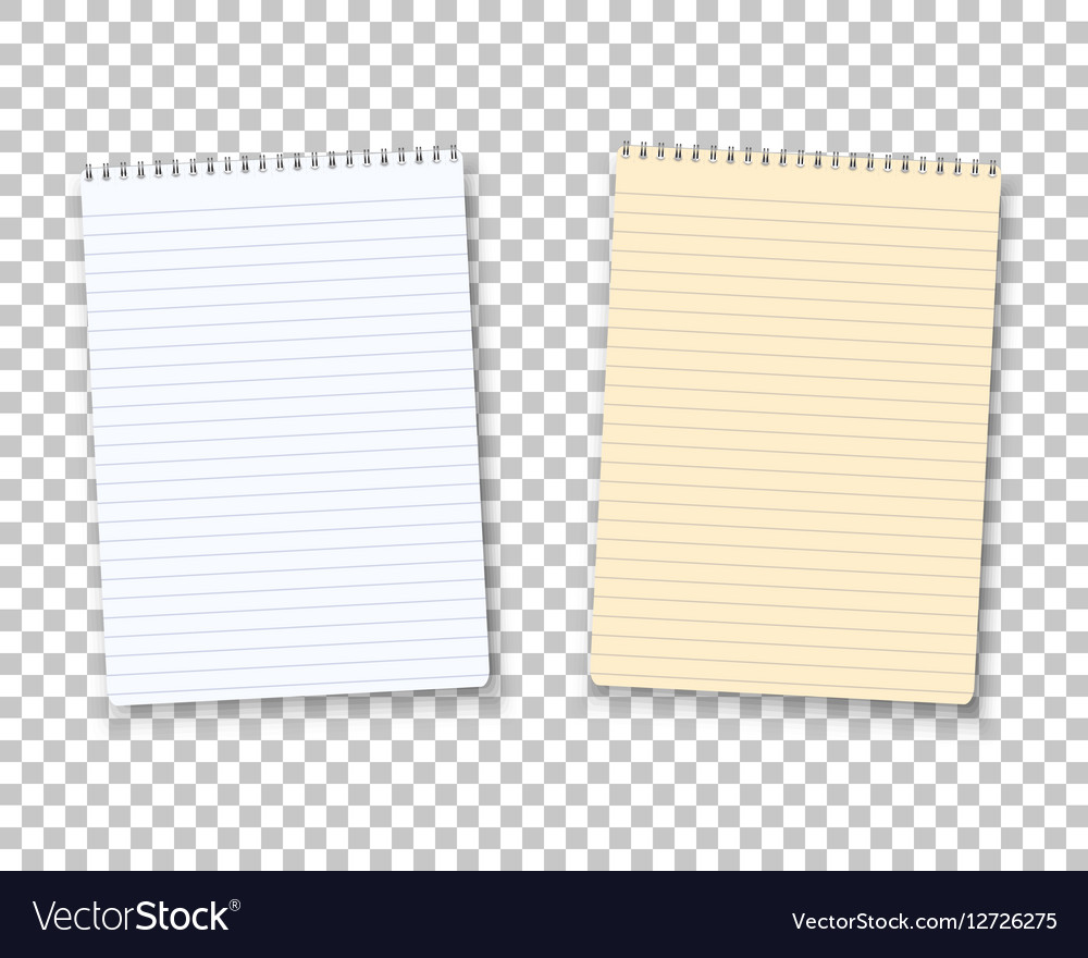 Realistic Paper Notepad Notebook Set