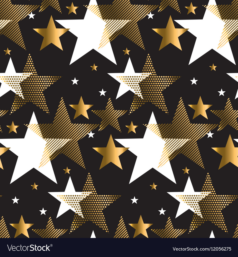 Seamless dots modern luxury pattern on black vector image