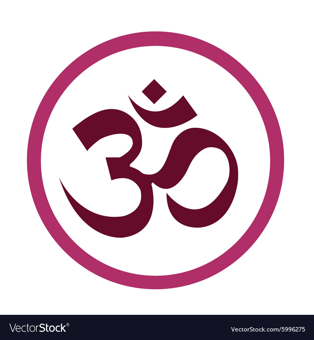 The Hinduism Symbols Om design vector image