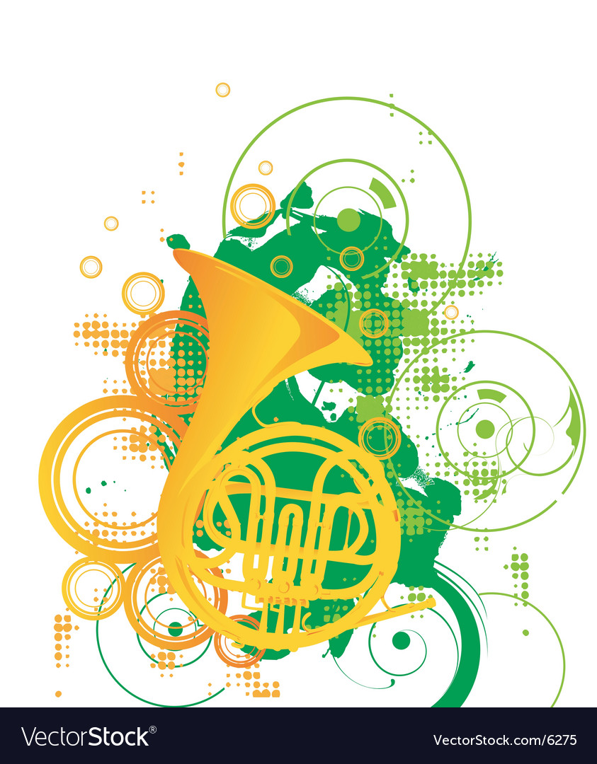 Trombone graphic vector image