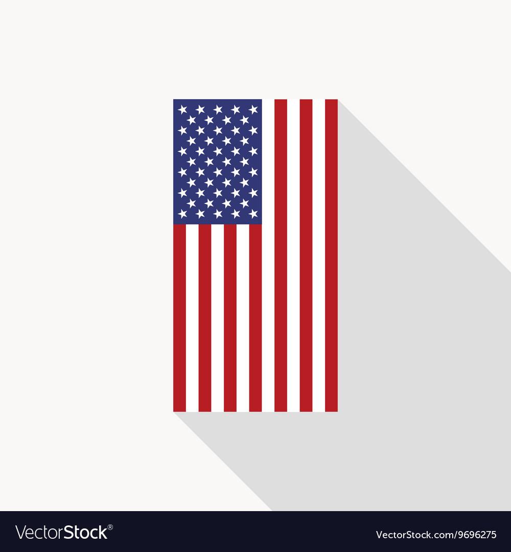 usa flag flat icon royalty free vector image vectorstock rh vectorstock com US Flag Vector Black US Flag Eagle Vector