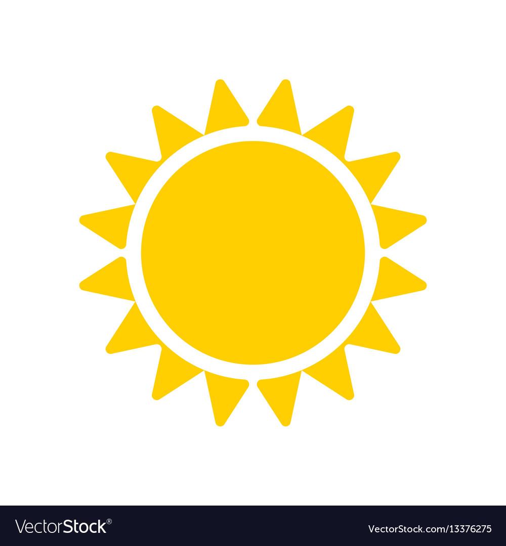 Yellow sun icon isolated on white background