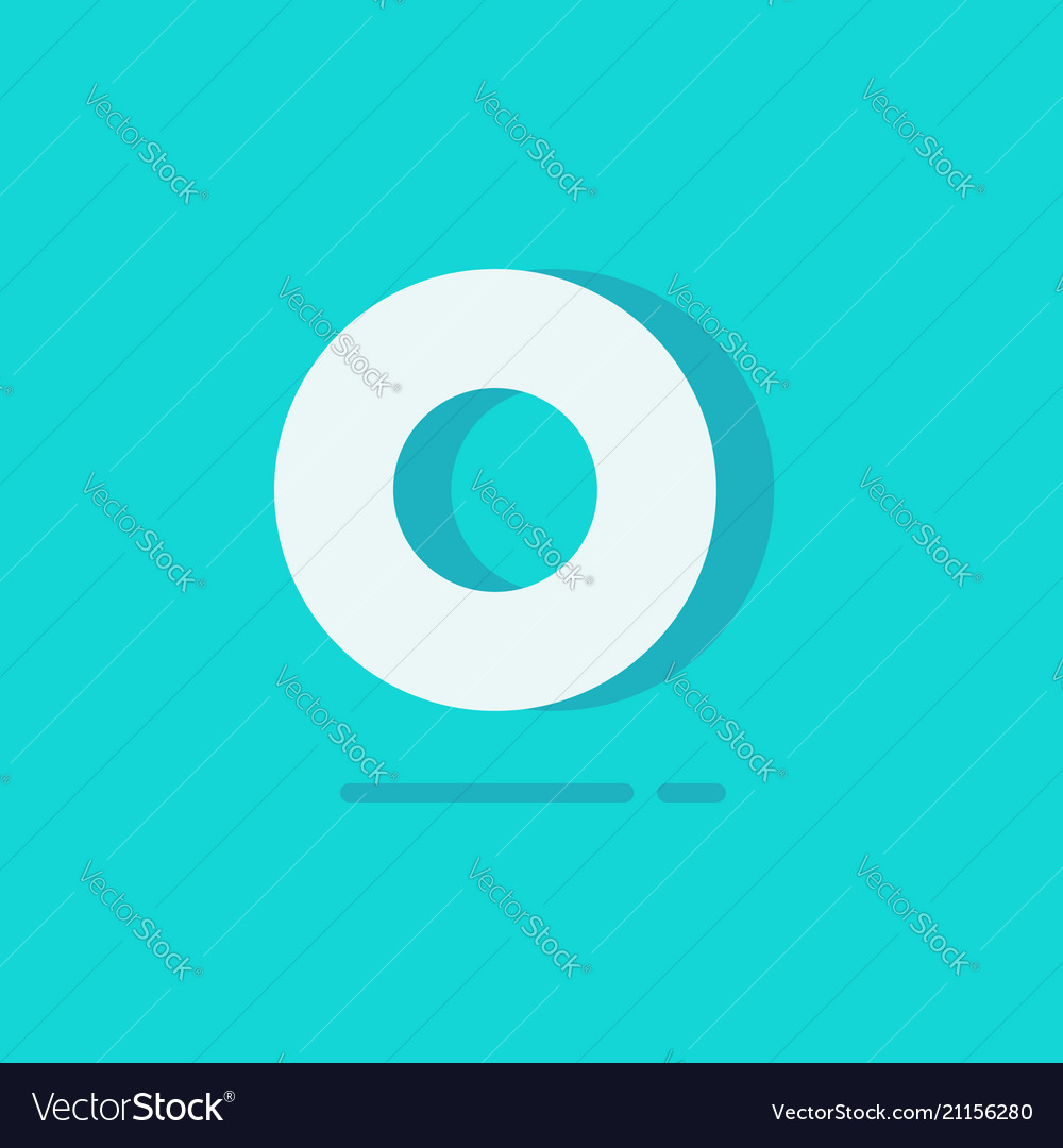 Circle logo flat cartoon white round