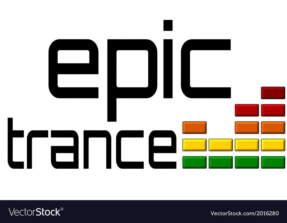 Epic trance dj equalizer music volume on alpha