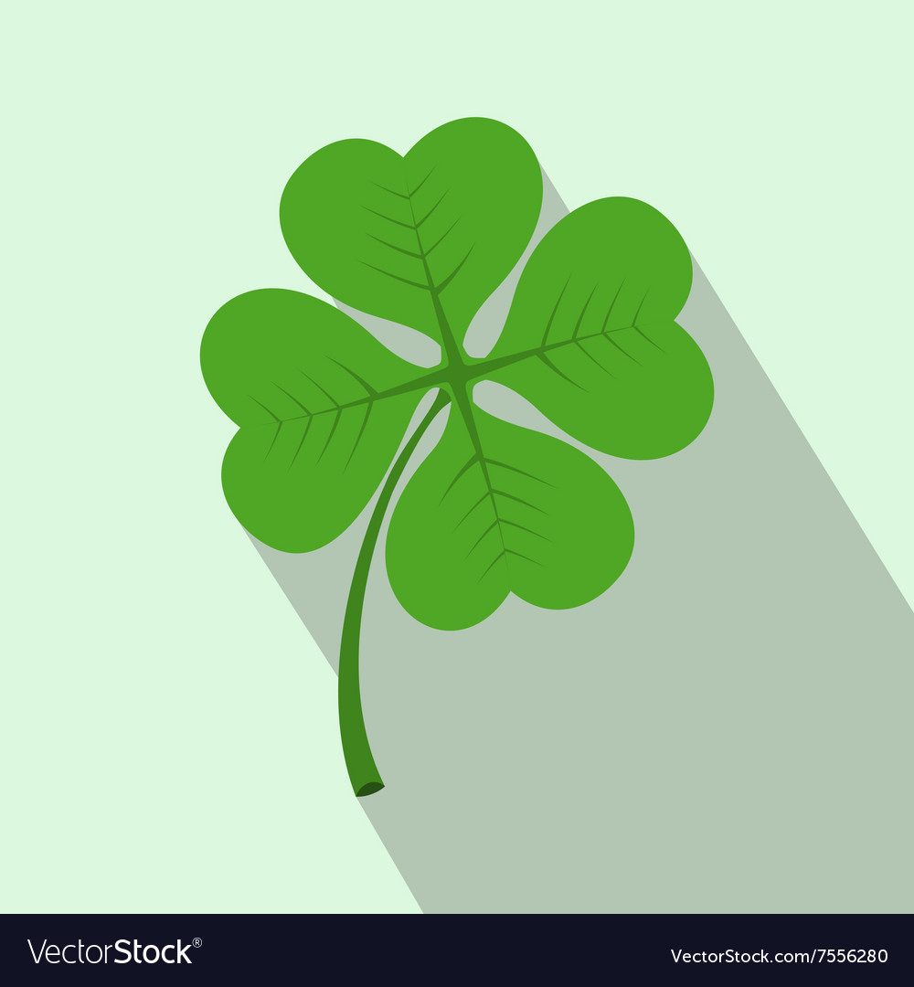 Four leaf clover flat icon vector image