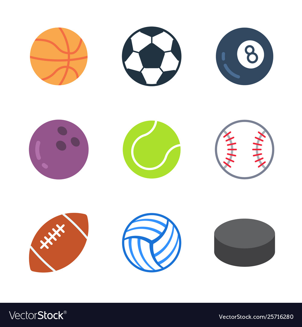 Games and sport colored trendy icon pack 1