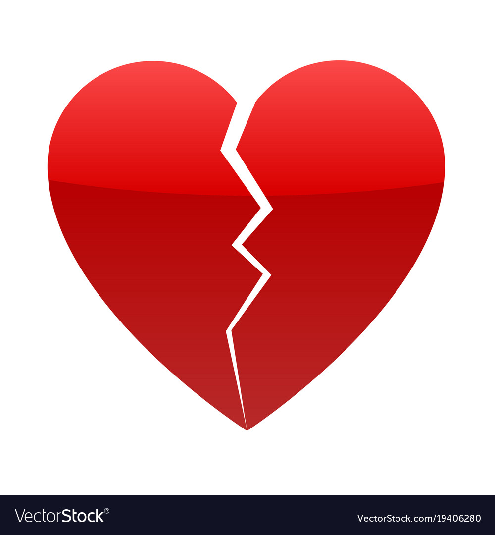 Red Broken Heart Royalty Free Vector Image