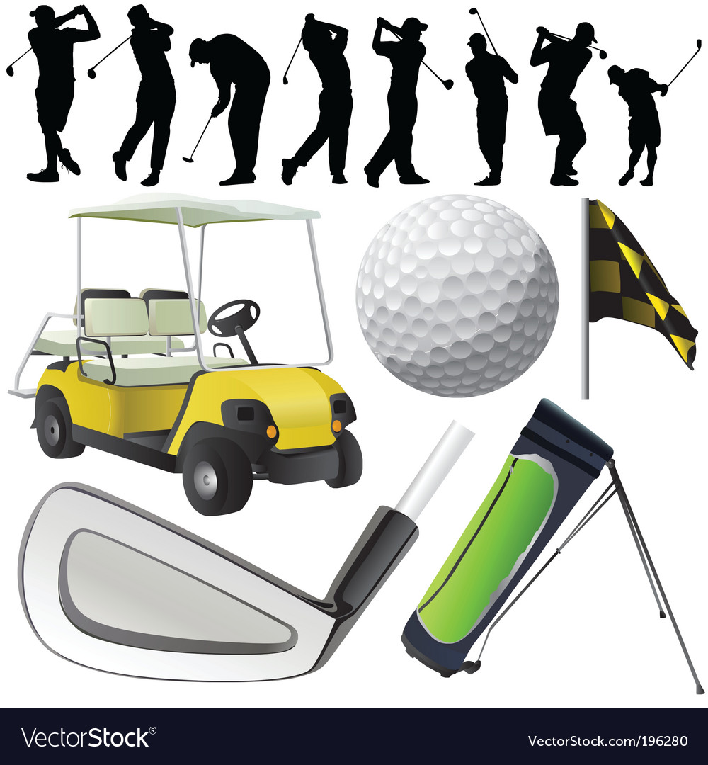 Set of golf vector image
