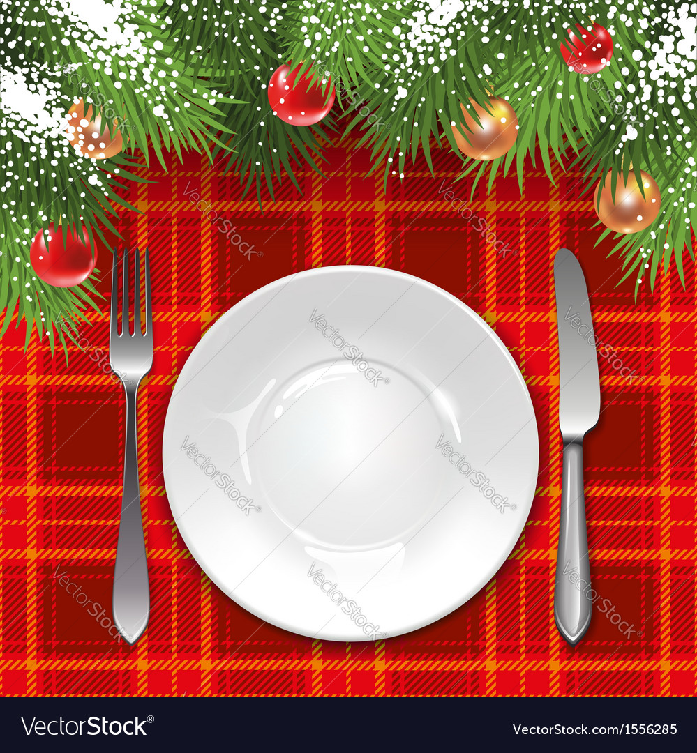 Christmas Menu Template Royalty Free Vector Image
