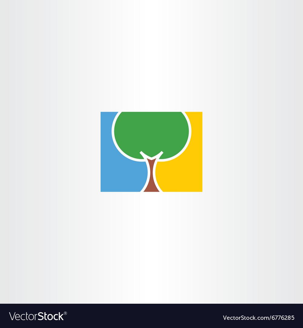 Tree natural logo icon eco sign