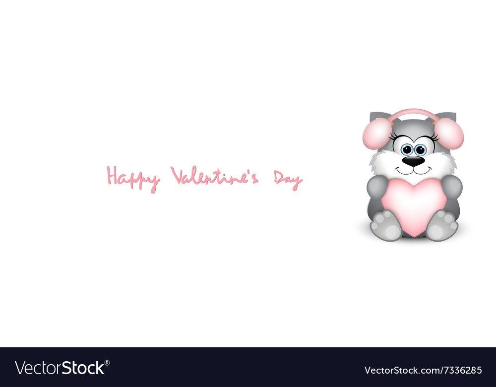 Valentines day card with funny cat