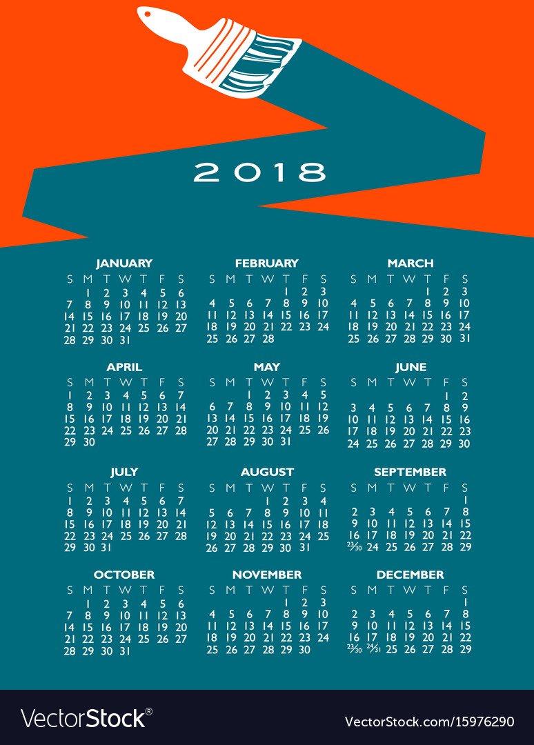 2018 creative painting calendar