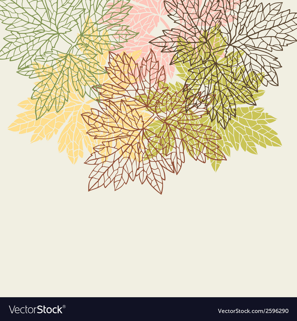 Background greeting card with stylized autumn