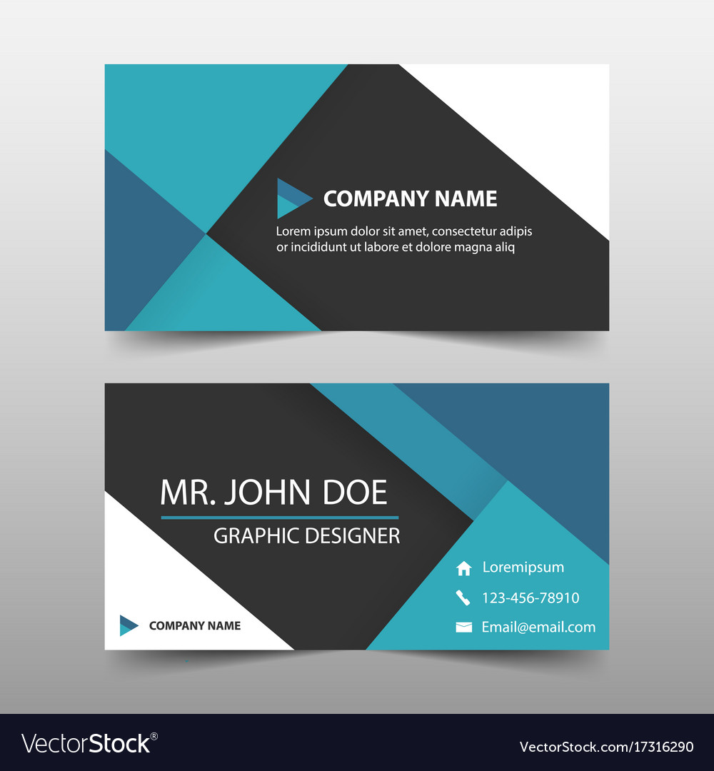 Blue corporate business card name card template vector image accmission