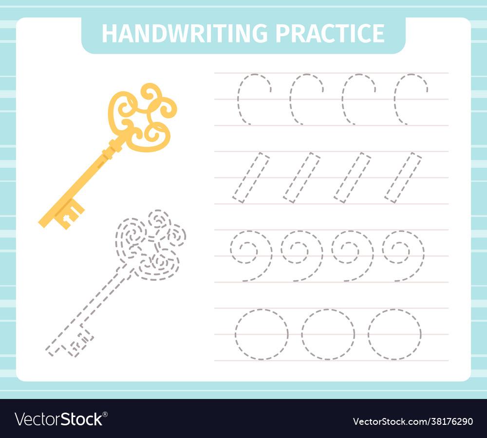 Kids handwriting practice game educational