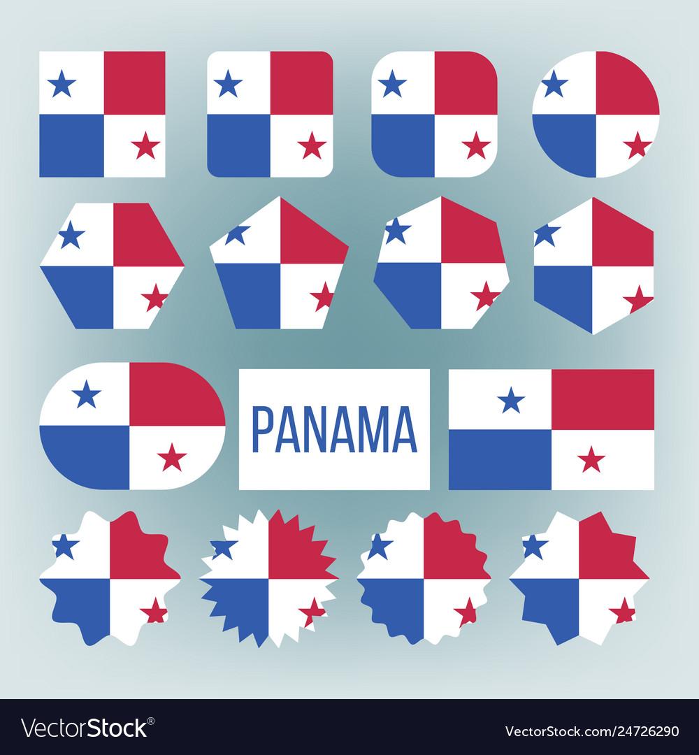 Panama flag set official panama flag flat