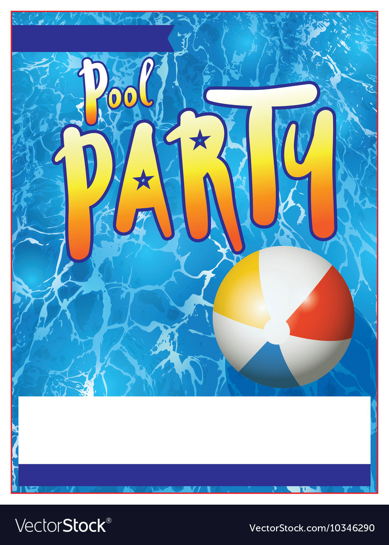 Pool party flyer royalty free vector image vectorstock - How to make a pool party ...