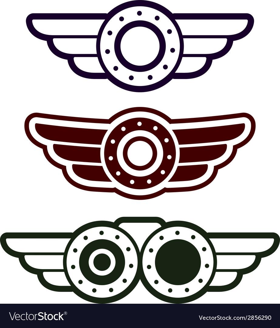 Steam punk emblem set