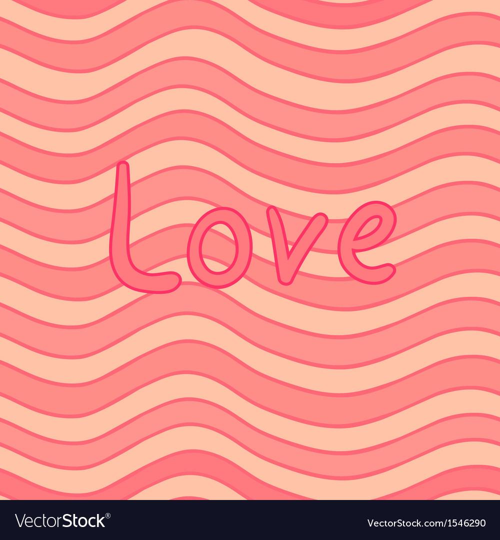 Stripy Valentine card