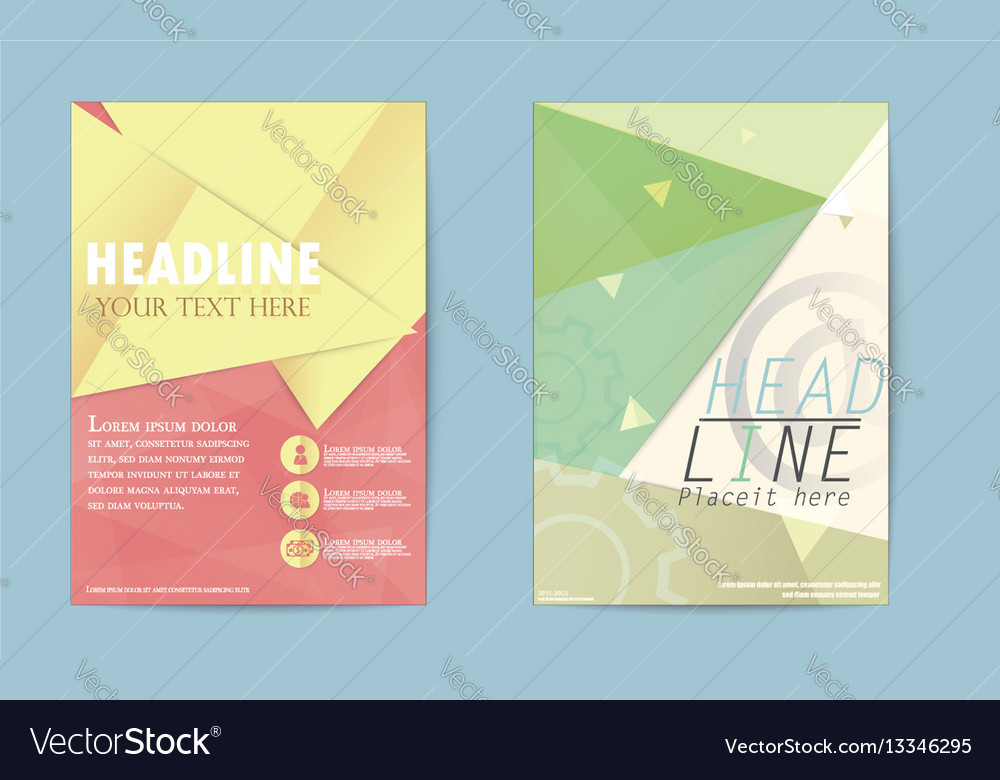 Abstract triangle brochure flyer design business