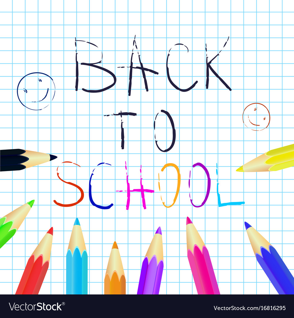 Back to school poster education background set