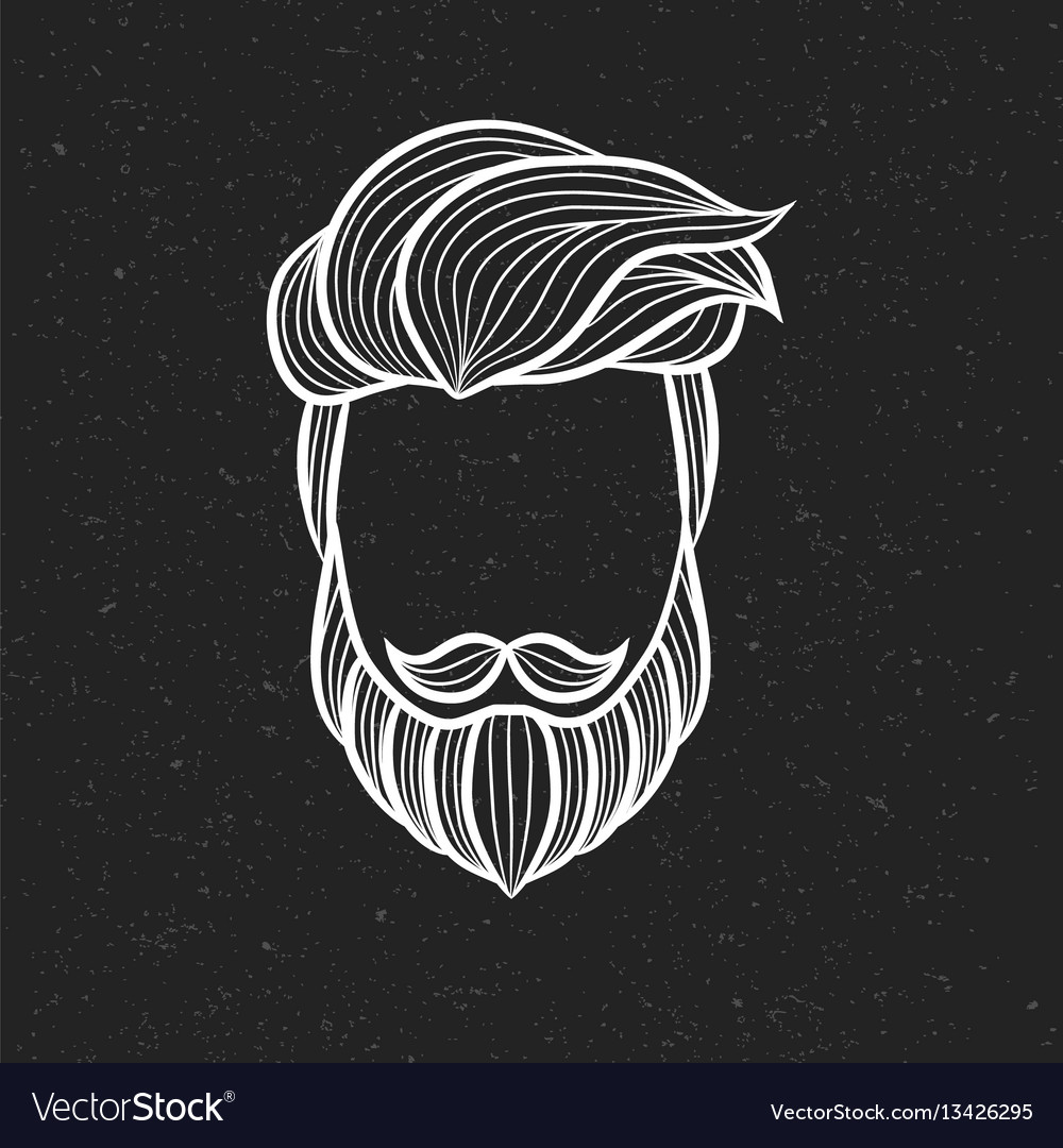 Beard man logo element