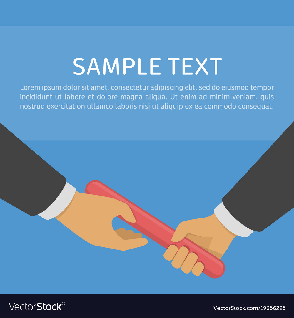Business relay concept vector image