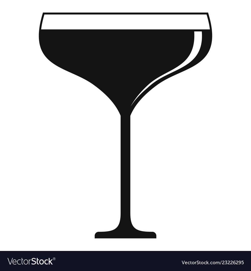 Champagne glass icon simple style