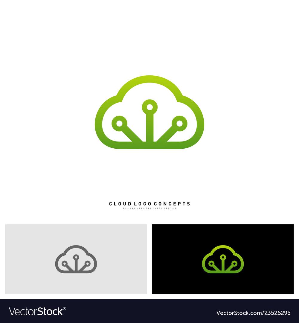 Cloud tech logo design concept tech cloud logo