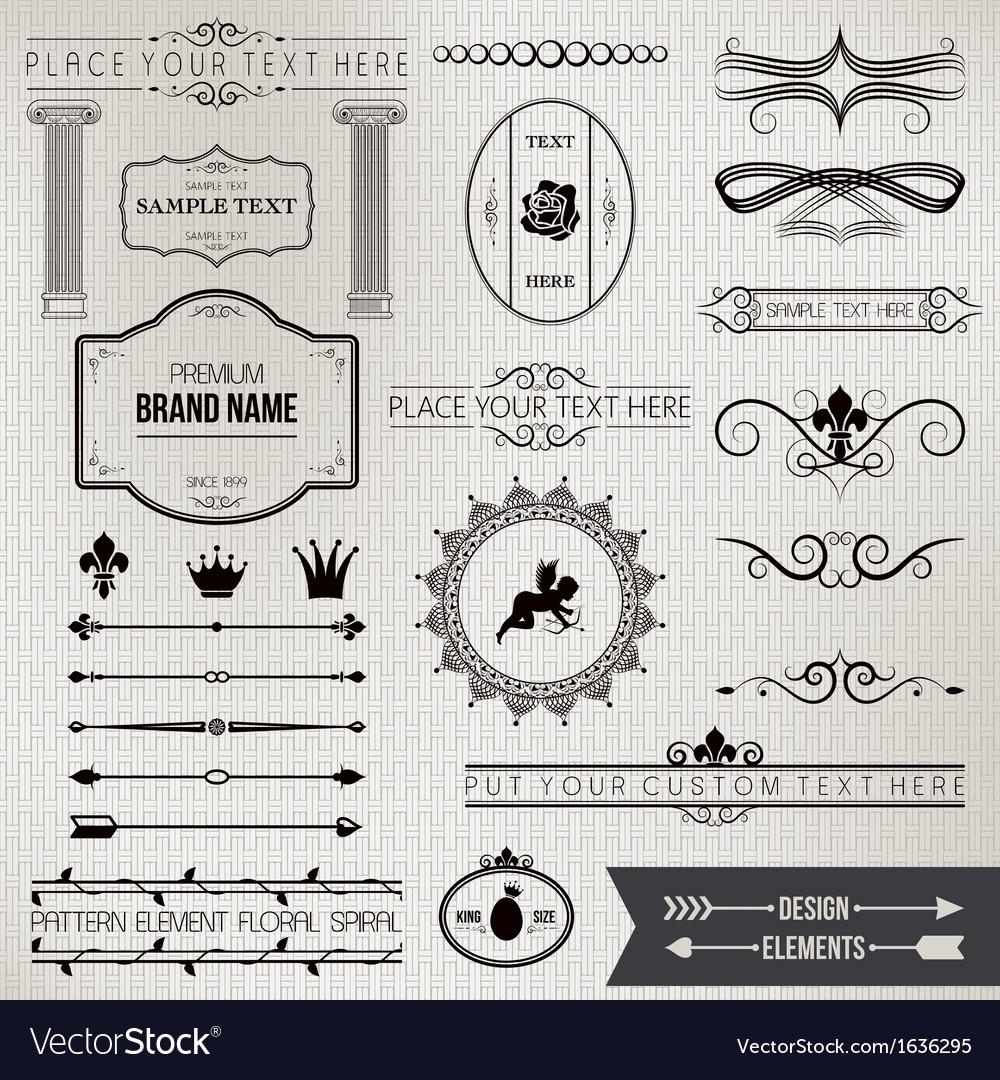 Design elements part 1 vector image
