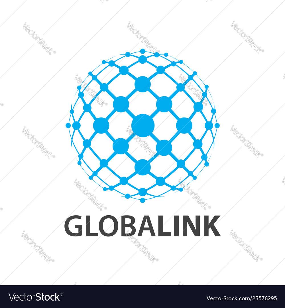 Global link globe world line logo concept design