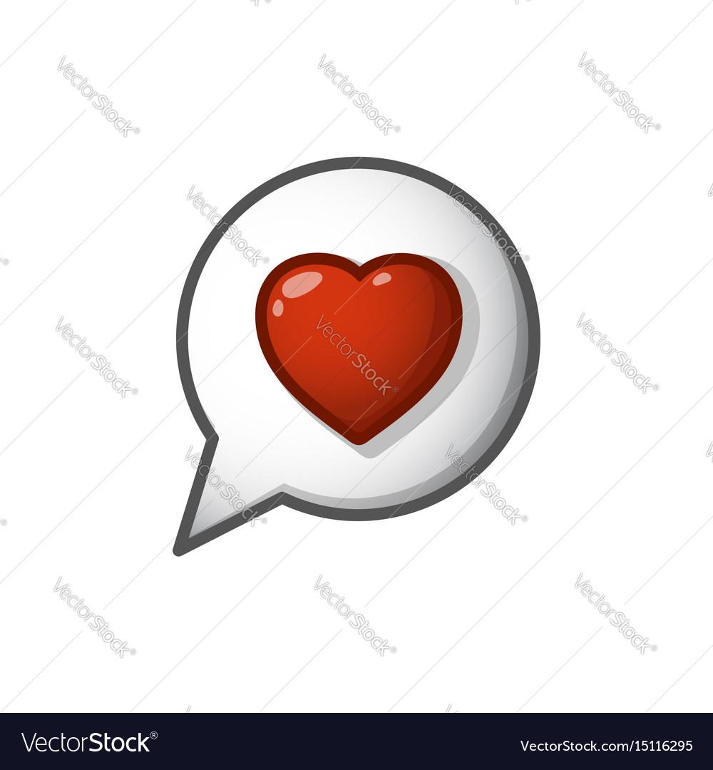 Heart sign in cloud cartoon