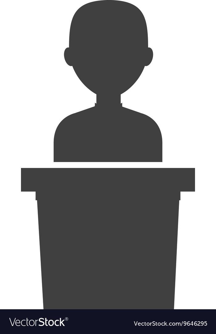 Podium candidate isolated icon design