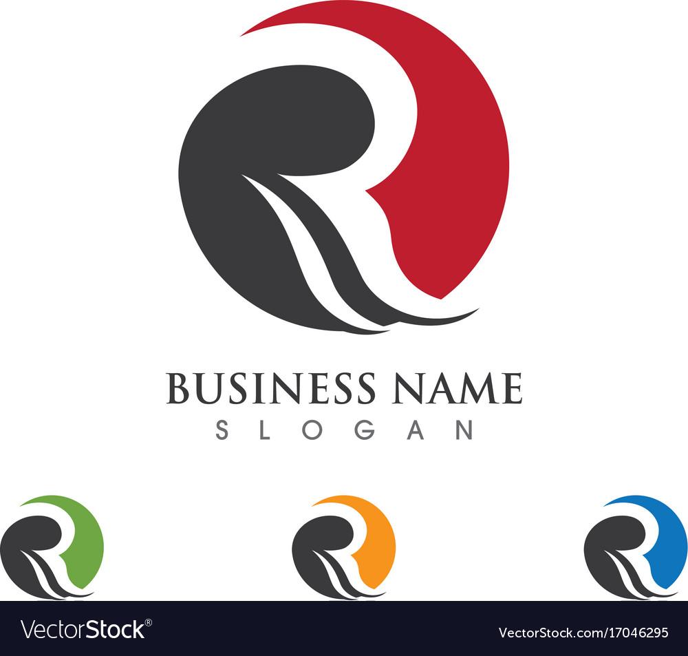 R letter logo template design royalty free vector image r letter logo template design vector image altavistaventures Image collections